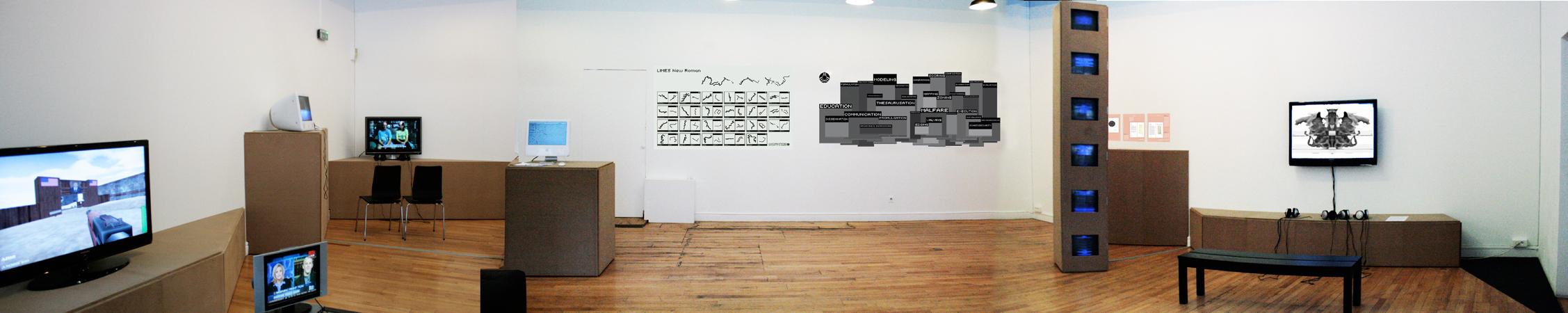 Vue panoramique de l'exposition.