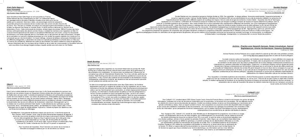 Document de médiation de l'exposition (verso). Graphisme : Denis Carrier.