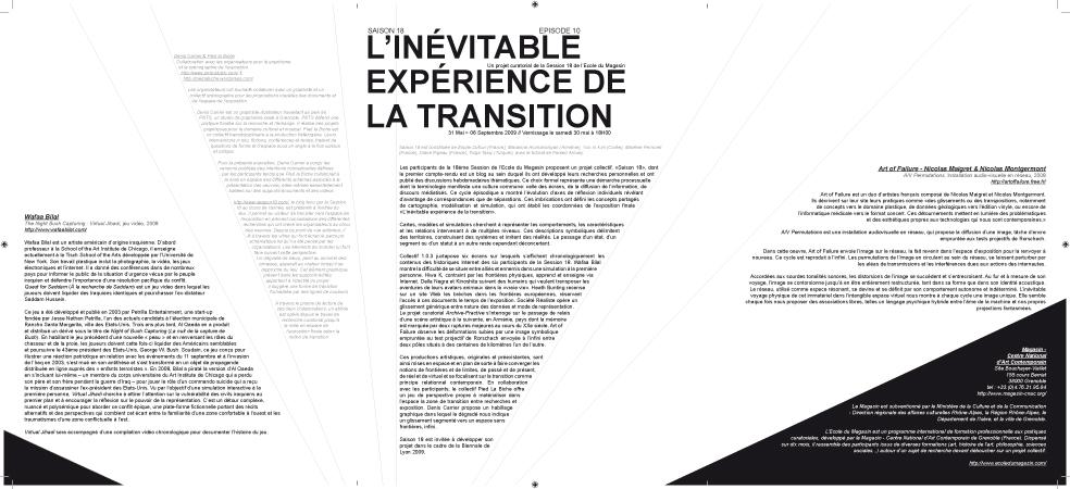 Document de médiation de l'exposition. Graphisme : Denis Carrier.