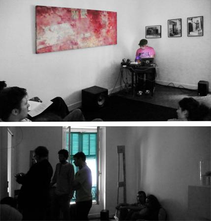 31.05.2008. « Sobralasolas ». Performance de Jérome Joy. Evénement proposé par la Maison, dans le cadre du festival d'art sonore « Indisciplines ».
