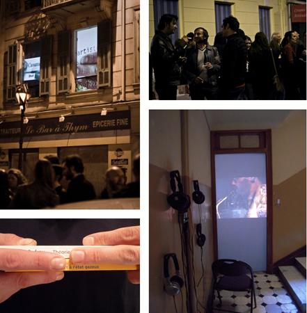 22.05.2010. « Roll'ywood version cover speech », Collectif 1.0.3. & « Salami Karton », Collectif Ktra. Soirée de vidéo-projections. Un événement organisé dans le cadre des « Visiteurs du soir » (un événement Botox[s]).